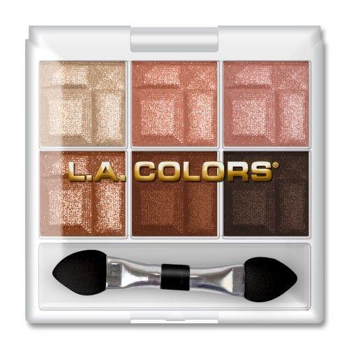LA Colors Eyeshadow, Earthy, 6 Ct