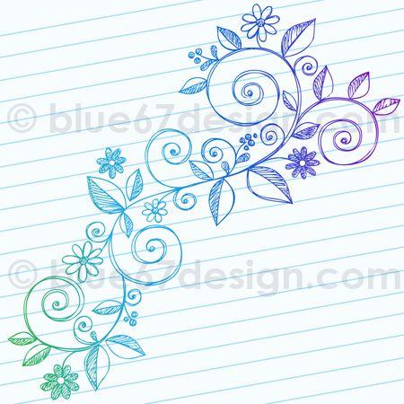 Hand-Drawn Sketchy Notebook Doodle Vine Vector Illustration by blue67, via Flickr.
