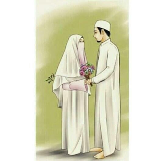 Koleksi 900  Gambar Animasi Muslim Couple HD Paling Baru