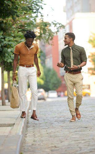 Semi Casual Street Wear black men fashion [ MalejaAndCourtier.com ]
