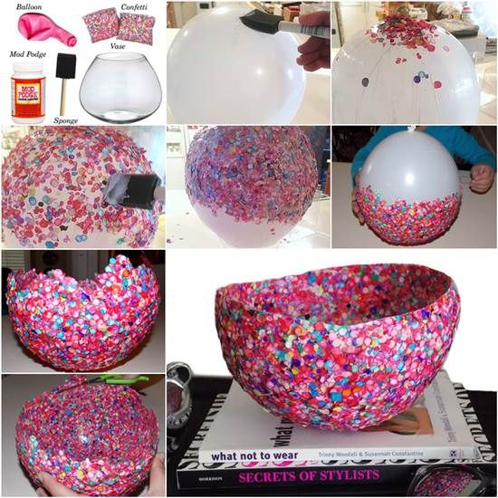 How to DIY Confetti Bowl in a Creative Way | iCreativeIdeas.com Like Us on Facebook == https://www.facebook.com/icreativeideas