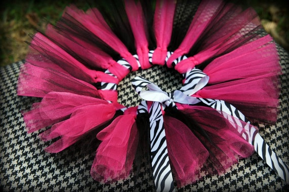 zebra ribbon tutu @Amber this made me think of your pink zebra stuff for Adalyn's birthday party.