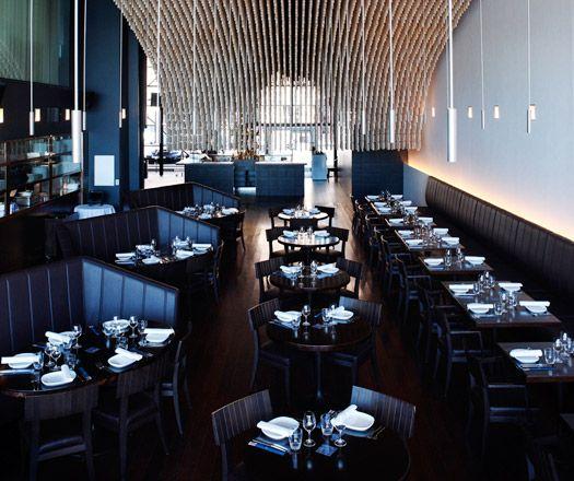 love high back seating feels booth like modern restaurant designrestaurant interiorsmarina - Beaded Inset Restaurant Interior