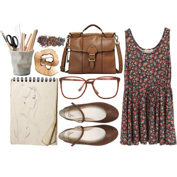 This would be like perfect for me since I wear glasses, I draw, and I love dresses!