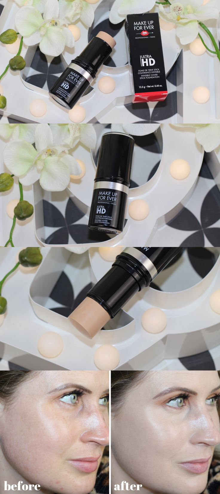 Make Up Forever HD Foundation Stick Review and Photos #mufe #makeupforever #hdfo…