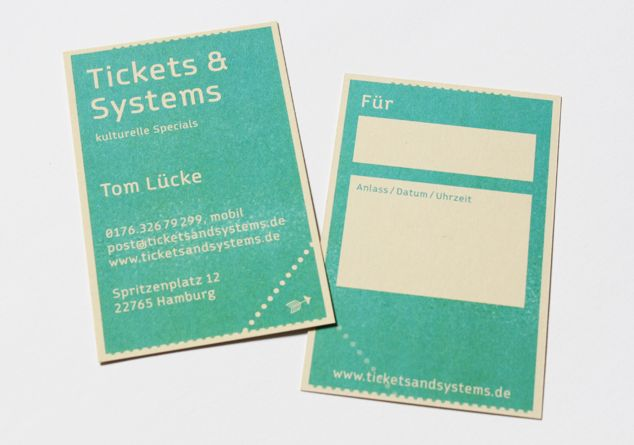 Visitenkarte Tickets & Systems