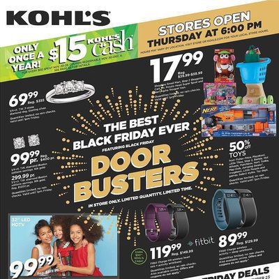 View the Kohl's Black Friday 2015 Ad with Kohl's deals and sales