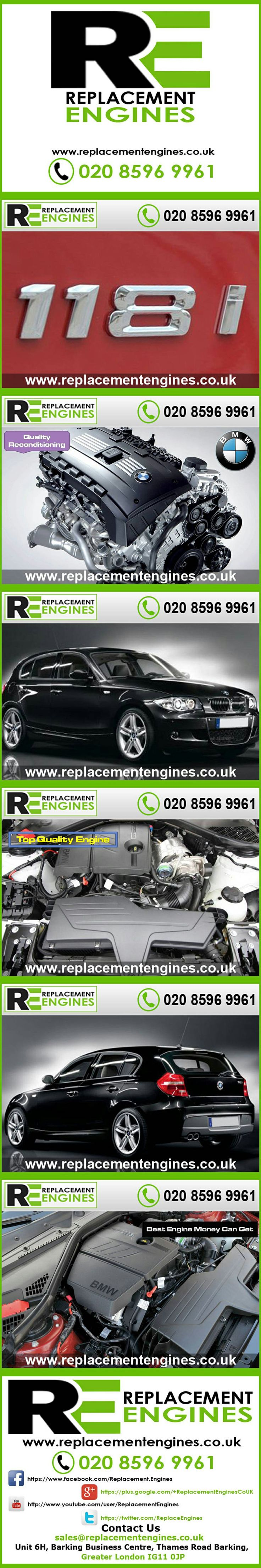 BMW 118i engines for sale at the cheapest prices, we have low mileage used & reconditioned engines in stock now, ready to be delivered to anywhere in the UK or overseas, visit Replacement Engines website here.