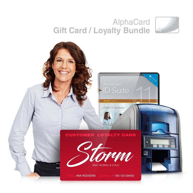 Gift Card & Loyalty Card Printer System for Membership Programs: Everything you need for your business: AlphaCard printer, Gift & Loyalty card design software, ID Supplies. Complete Loyalty & Gift Card System includes: Datacard SD160 Printer(510685-001), AlphaCard ID Suite Software, Datacard 250 Print Ribbon(534100-001-R003), and 100 Premium AlphaCard Blank PVC Cards. Perfect for printing personalized loyalty club membership cards, professional gift cards, promotional and giveaway cards…