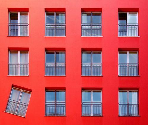 Discomformity: Christian, Building, Window, Red Wall, Control Freak, Munich Germany, Photo, Drunk Memes, One Job