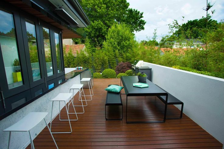 This is a fantastic decked area that looks out over the garden.