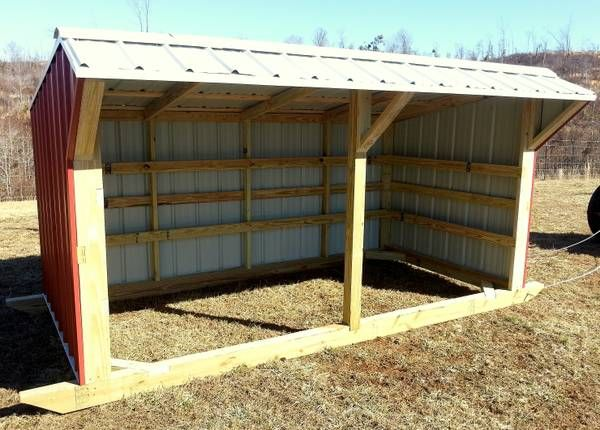 Diy Calf Shelter : X steel portable livestock shed hunter s h