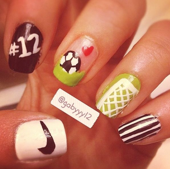 Soccer Nails for my girls! - Best 25+ Soccer Nails Ideas On Pinterest Sports Nail Art