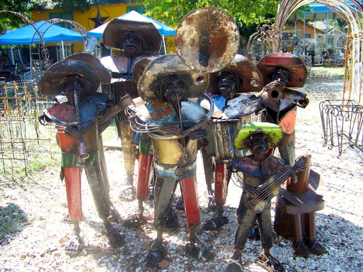 Perfect Recycled Metal Mariachis Contact Us In Houston TX 713 880 2105 · Mexican  GardenMexican DecorationsMetal ArtHouston ...