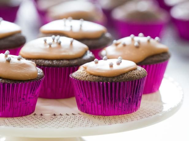 Get Hundred Dollar Cupcakes with Caramel Icing Recipe from Food Network