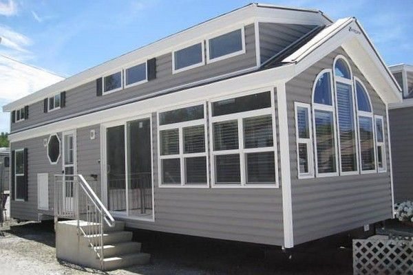 A park model home can seem huge in comparison with a 'standard' tiny house on wheels, and Kropf's Island series are even bigger than most.