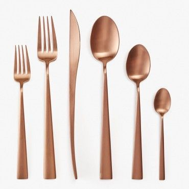 Modern Copper Flatware