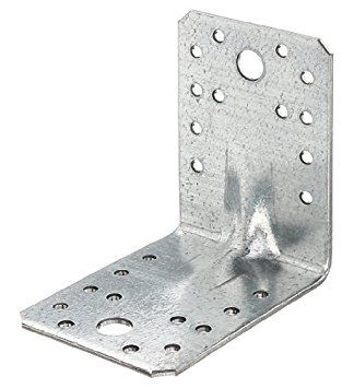 GAH-Alberts 330330 Schwerlast-Winkelverbinder mit Sicke, Großpack - sendzimirverzinkt, 70 x 70 x 55 mm / 12 Stück: Amazon.de: Baumarkt