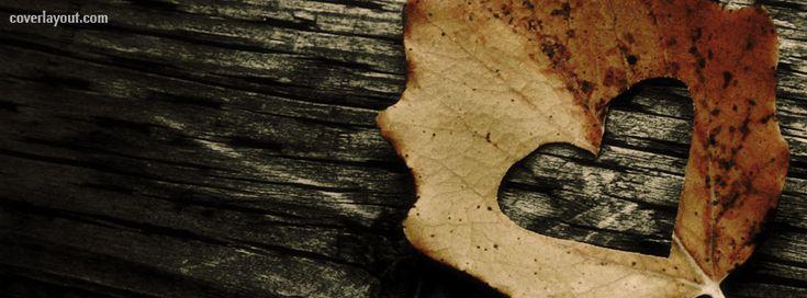 Heart Leaf Autumn Fall facebook cover  CoverLayout.com