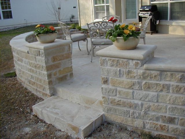 Residential Stone Columns : Best images about bullnose caps on pinterest fire pits