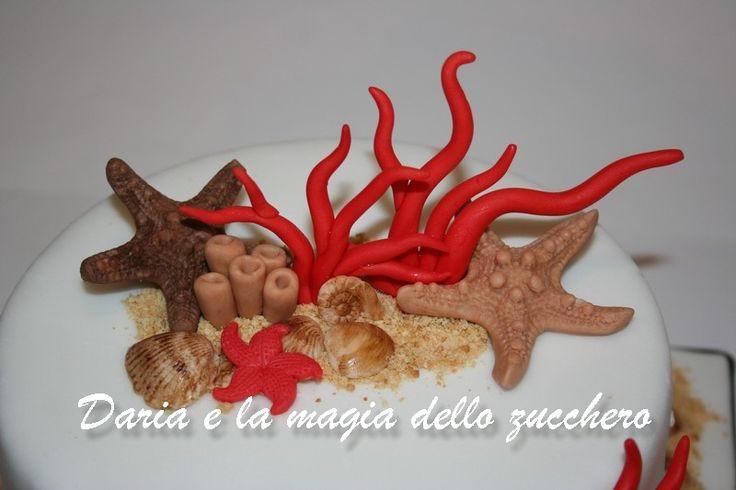 #Torta mare #Sea cake #Coral sea cake #Stelle marine #Starfish #Corallo