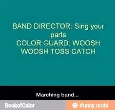Poor color guard! But hilarious nonetheless