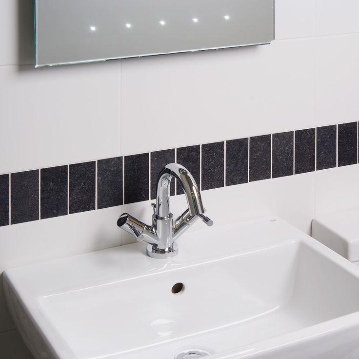 moon blanco tile black and white bathroom ideas white. Black Bedroom Furniture Sets. Home Design Ideas