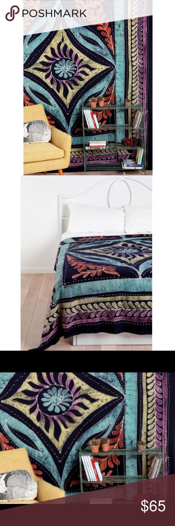 "Urban Outfitters Tapestry This tapestry has so many applications: bed cover, curtain, or just a beautiful piece of art to be admired on the wall. Dimensions: 84""L - 100""H. Urban Outfitters Other"