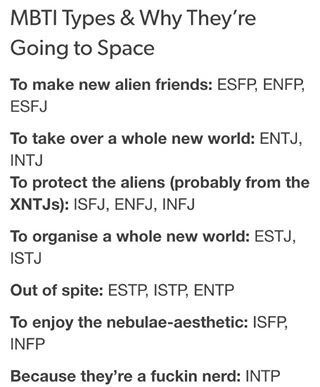 A post that all the MBTI nerds out there will LOL at