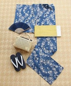 UNITED ARROWS KIMONO(ユナイテッドアローズキモノ)の着物/浴衣「竺仙 奥州小紋 桔梗 浴衣」を購入できます。