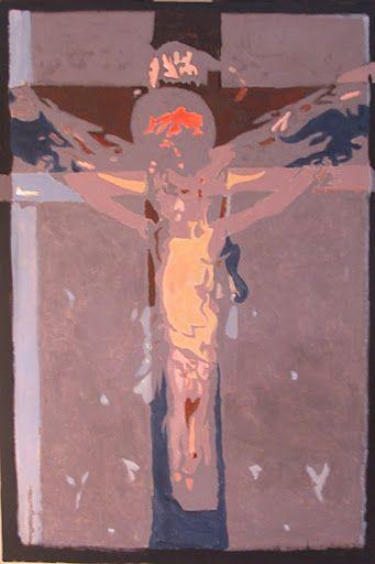 110311 acrylic Meditation on the Holy Cross by John Warren Oakes