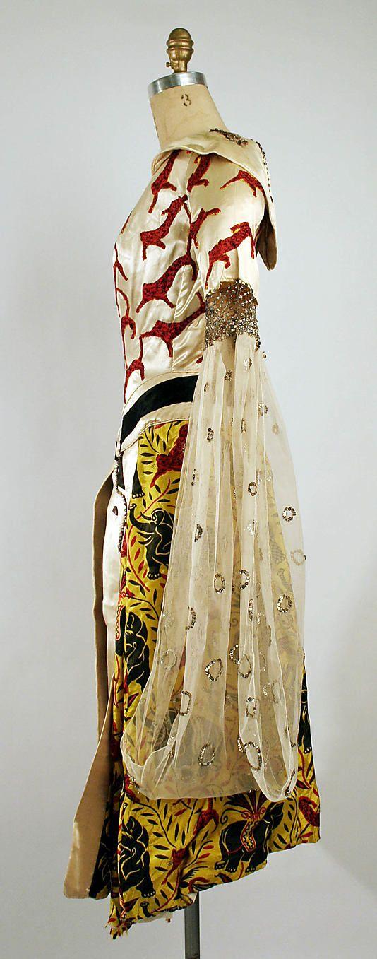 Léon Bakst, textile by Raoul Dufy,  The Ballets Russes, fancy dress silk…
