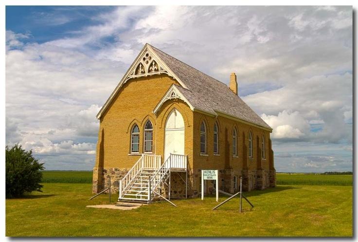 Charming, vintage brick and stone, Saskatchewan, Canada