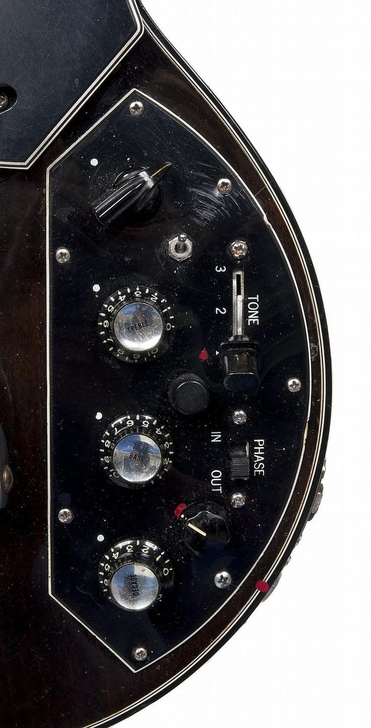 """Serial number 71508124 - 1978 Les Paul Recording model, walnut with factory Bigsby, two quarter inch input jacks on the bottom bout, microphone xlr input on top bout with darker neck, in original case.  The back of the headstock is additionally stamped """"SECOND.""""  Together with handwritten notes about the guitar, some in Paul's hand.  8.5"""