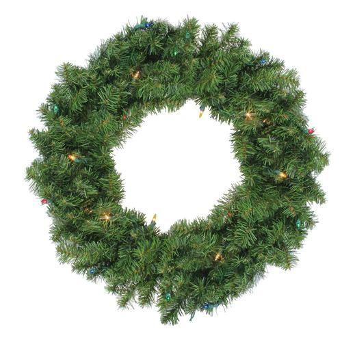 24 Cordless Led Pre Lit Christmas Wreath