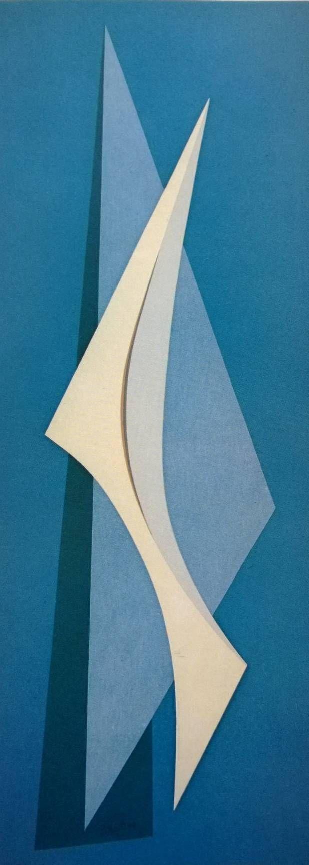 White bird, 1959. Emilio Pettoruti, Argentinian painter. L'oiseau blanc,1959. Oil 145x57cm. Buenos Aires, Argentina.