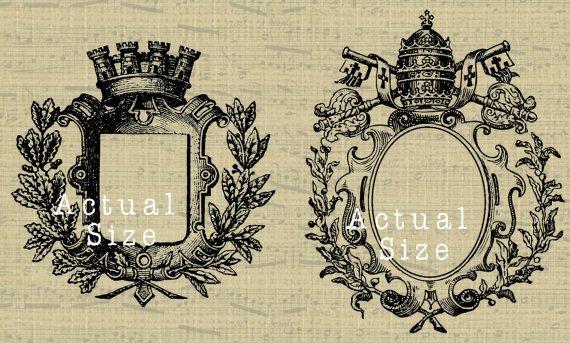 Crête de famille le monogramme royal clipart par withwildabandon