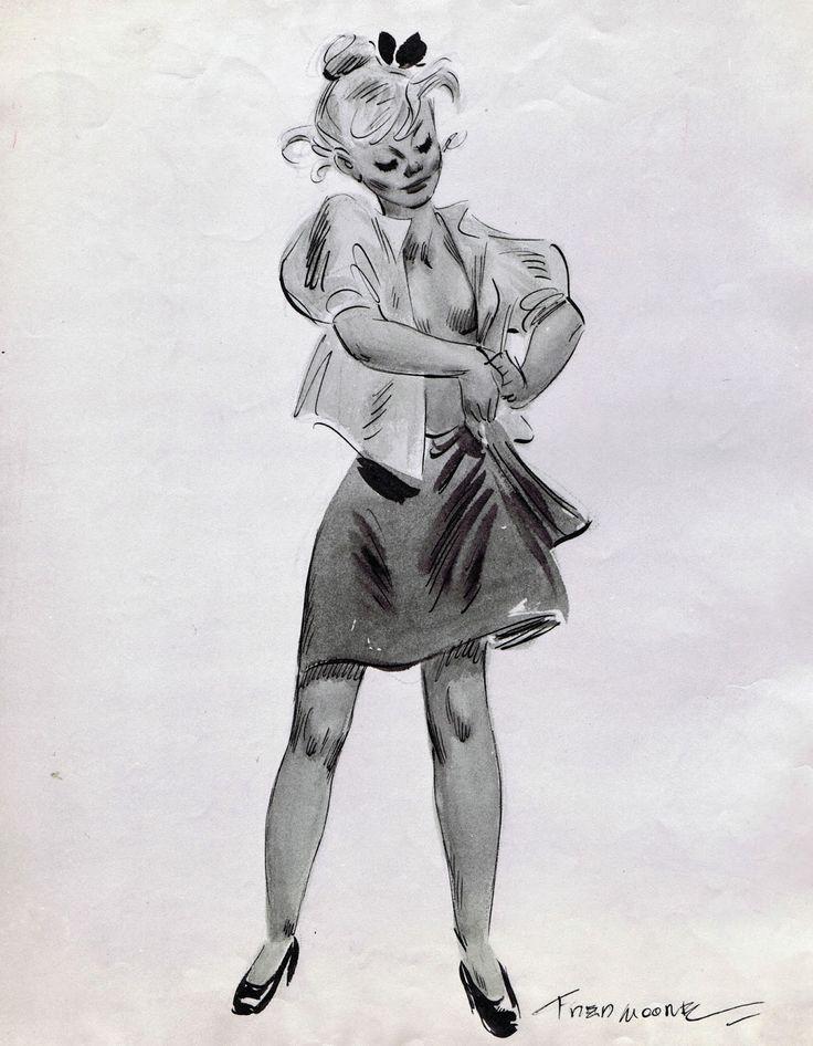 Girl by Disney animator Freddie Moore.