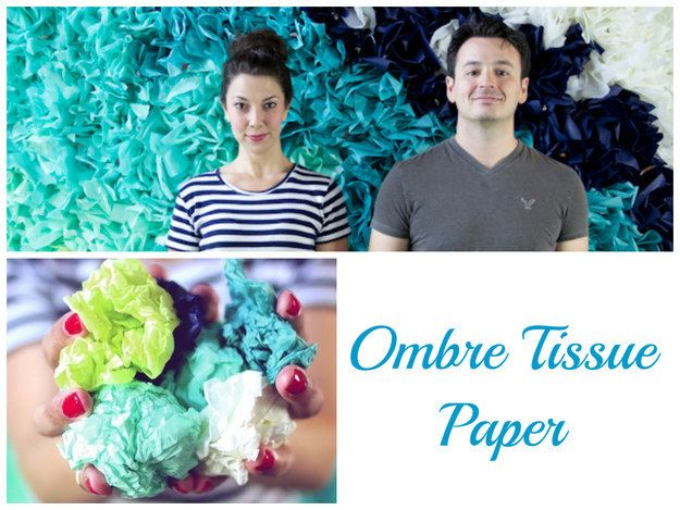 Create an insane mural with just tissue paper.