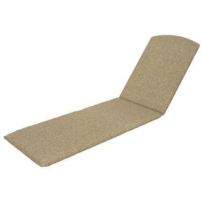 Trex Trex Outdoor Chaise Cushion Sunbrella Color: Sesame