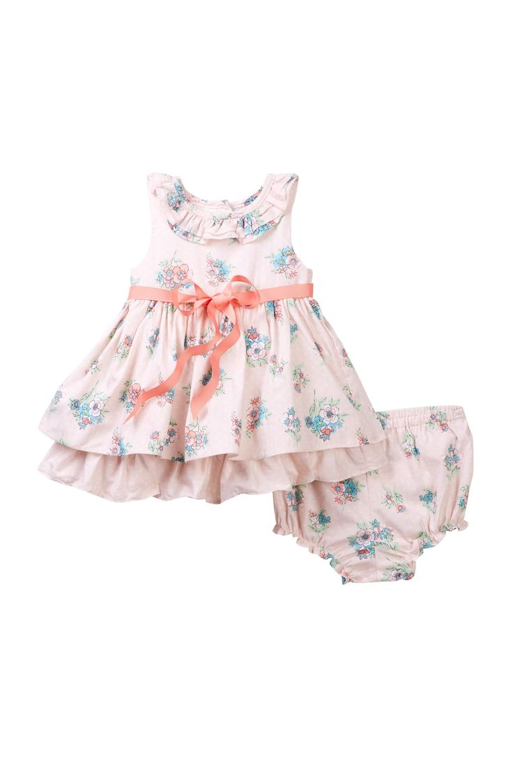 Pink Cotton Print Dress (Baby Girls 0-9M) by Laura Ashley on @nordstrom_rack