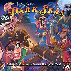 January 2016 - What I'm Playing - Board Games - Dark Seas by AEG - You basically build your own sea with little islands and ports which allow you to earn money and points while screwing your opponents by taking away their pirates and/or money. While most of the game is determined by the luck of the draw and the luck of the dice, there is a bit of strategy that comes into play.  (not an affiliate link, endorsement, or sponsorship) #Boardgames #FamilyNight #Games