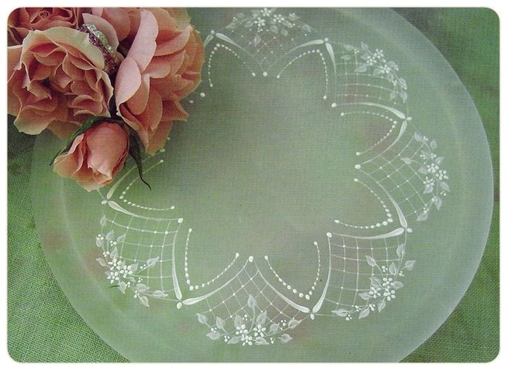 Clip: Round lace. Imitation. Painting lessons from Arlene Linton.