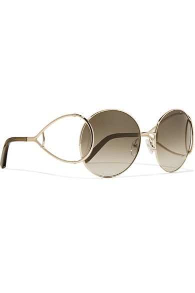 Chloe Gold-tone metal Come in a designer-stamped hard case 100% UV protection Made in Italy