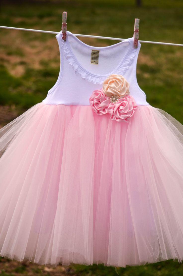 Rose Cluster Shabby Chic Flower Girl Wedding by PiggyHadTea, $56.00