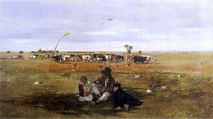 Stanisław Masłowski - Na pastwisku, 1889