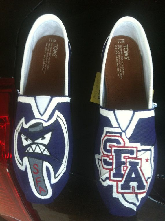 Sfa shoes stephen f austin state university by customtomsbyjenn 120 00