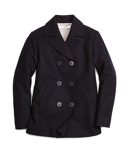Double-Breasted Pea Coat - Brooks Brothers