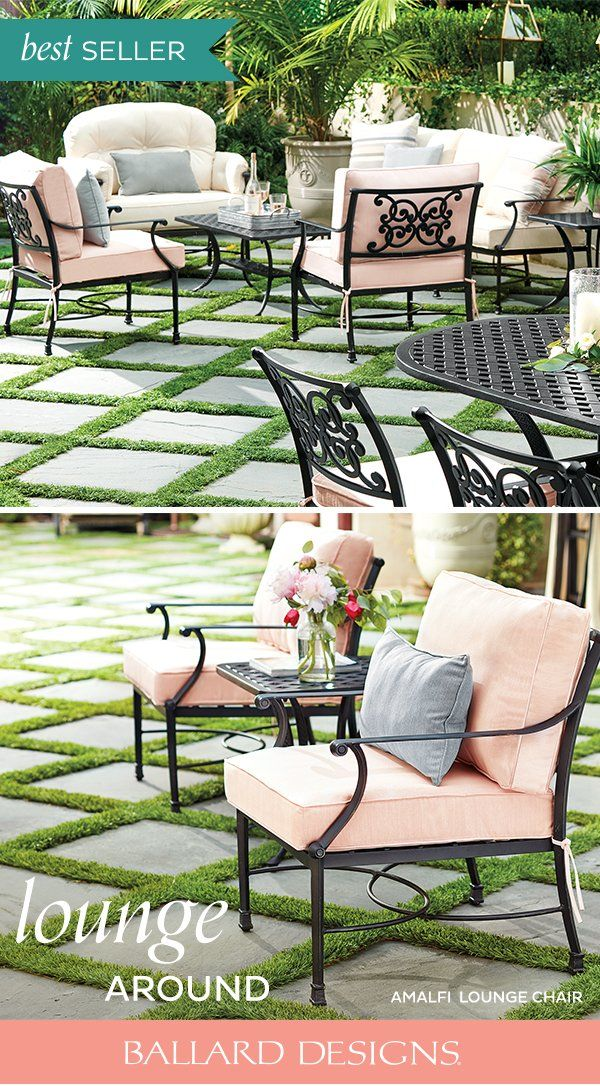 Amalfi Lounge Chairs With Cushions Set Of 2 Outdoor