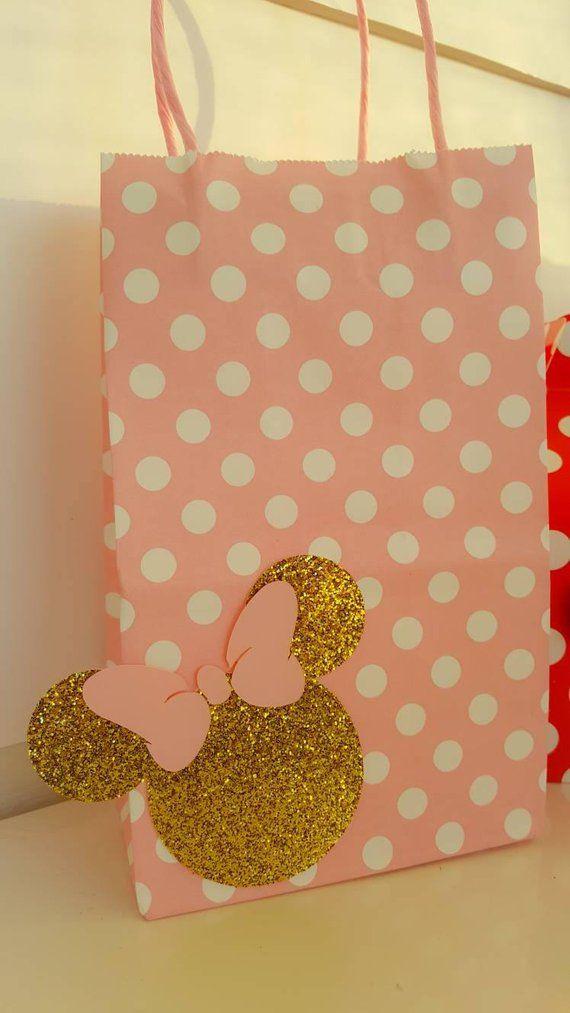 b0d948600 Bolsas, cajas de partido a favor de Minnie Mouse. Juego de 12 en ...